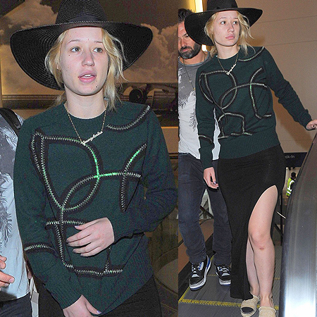 Make-up free Iggy Azalea at LAX Airport