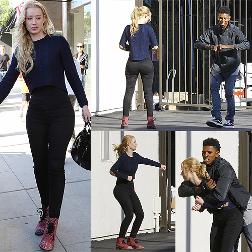 Iggy Azalea and Nick Young on November 2, 2014