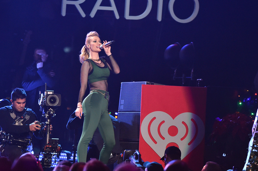 Iggy Azalea performing at the z100 2014 Jingle Ball