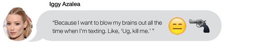 Iggy Azalea favorite emoji