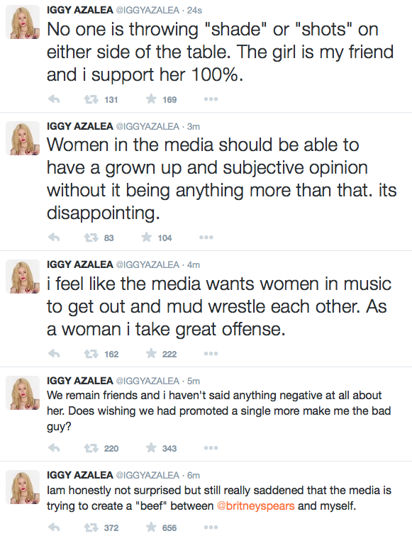 Iggy Azalea is no enemies with Britney Spears